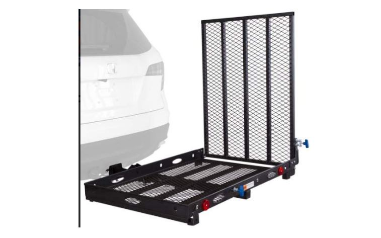 prohoists 400lb electric power wheelchair carrier with loading ramp