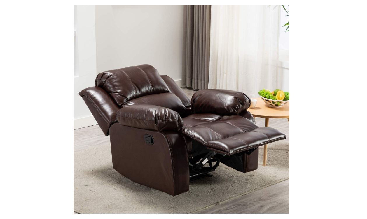 Bonzy Home Air Leather Recliner Chair - BestCartReviews