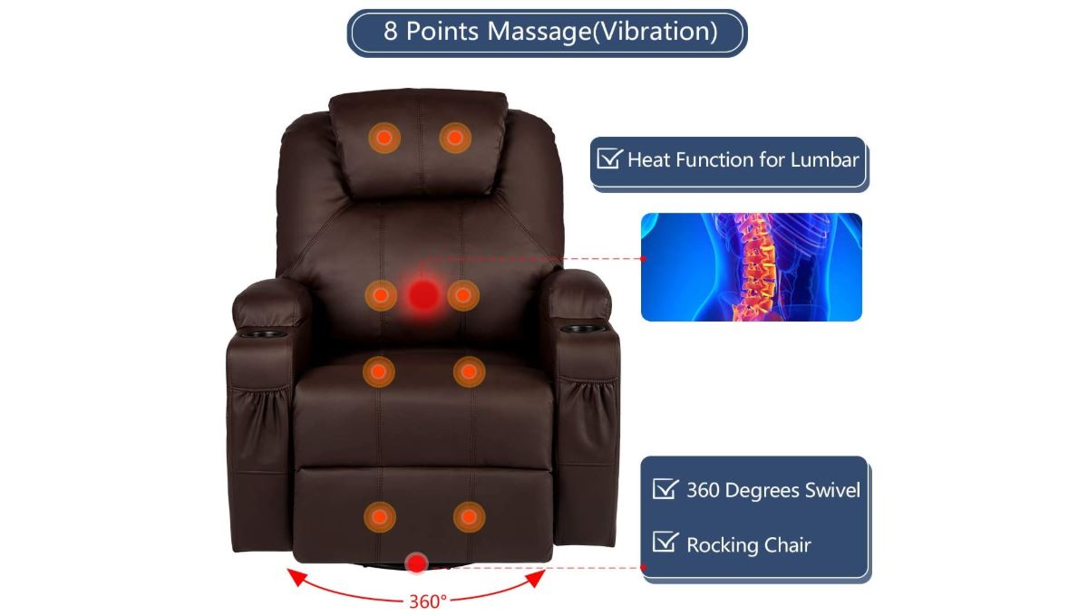 Esright Massage Recliner Chair - BestCartReviews
