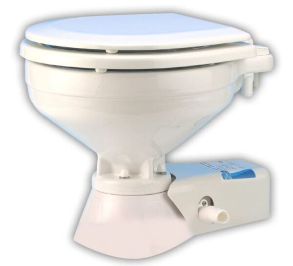 Jabsco Quiet Flush Marine Electric Toilet with Intake Pump, Seawater