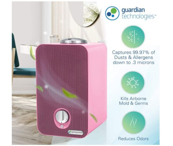 Germ Guardian HEPA Filter Air Purifier for Home, UV Light Sanitizer Eliminates Germs - BestCartReviews